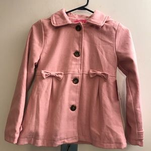 Pink Platinum Girls Hooded Wool Blend Coat 10/12